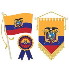 Ecuador flags vector