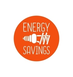 Energy savings logo design vector image vector image