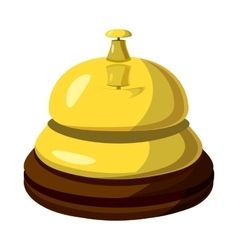 Golden reception bell icon cartoon style vector