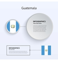 Guatemala Country Set of Banners vector image