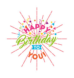 Happy birthday card with gifts vector