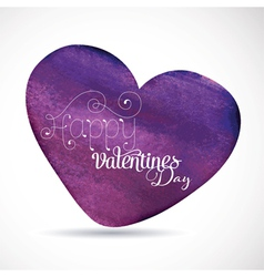Happy Valentines Watercolor vector image vector image