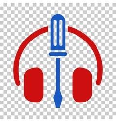 Headphones tuning screwdriver icon vector