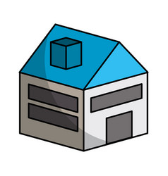 House isometric isolated icon vector