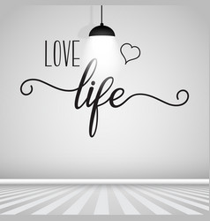 Inspirational quote wall decal vector