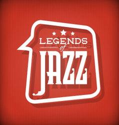 Jazz Legends vector image vector image