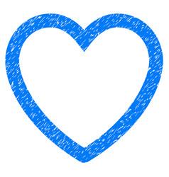 love heart grunge icon vector image