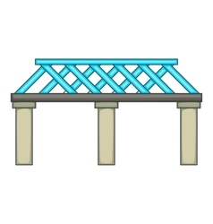 Railroad bridge icon cartoon style vector
