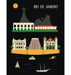Rio de Janeiro vector image