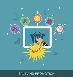 Sale and promotion banner flat for promotion vector