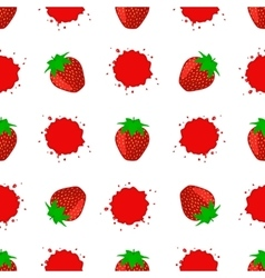 Seamless Pattern with Juicy Ripe Strawberry vector image vector image