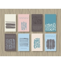 Set of Vintage Creative Cards vector image vector image