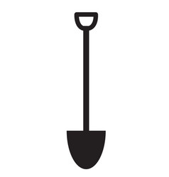 Shovel icon on white background flat style vector