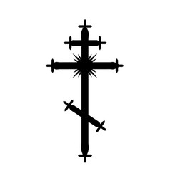 the greek-catholic orthodox cross vector image vector image