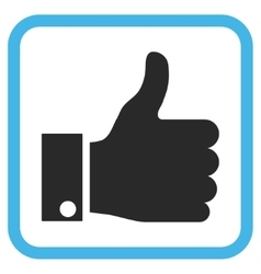 Thumb up icon in a frame vector