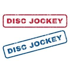 Disc jockey rubber stamps vector