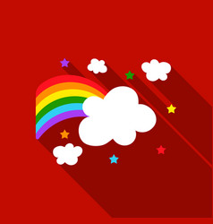 Rainbow icon flat single gay icon from the big vector