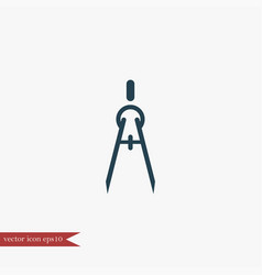 compass icon education vector image