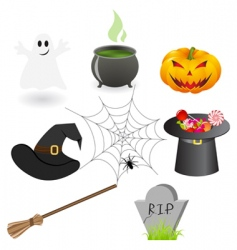 Halloween staff vector
