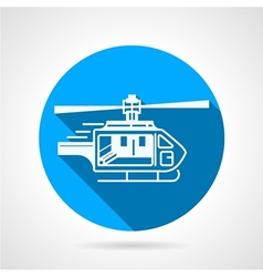 Round icon for ambulance helicopter vector
