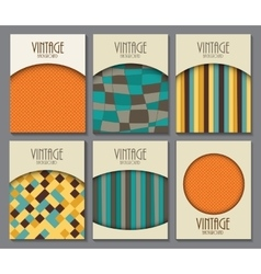 Big collection set of retro vintage background vector