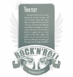 rock n roll banner vector image