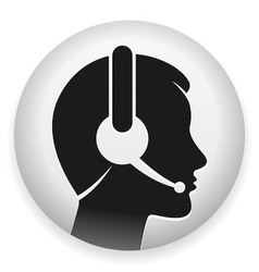 Headset with microphone vector