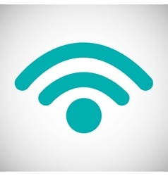 Graphic design of wifi vector