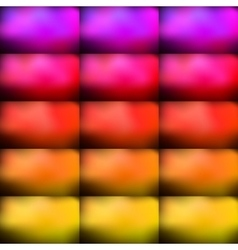 Bright and colorful rectangular bulges vector
