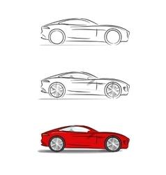 Sports car with a sleek vector