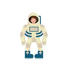 astronaut sad emoji cosmonaut sorrowful emotion vector image vector image