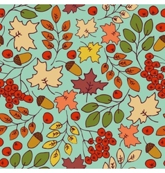 Autumn seamless pattern Maple Leaves vector image