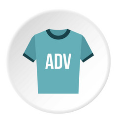 Blue shirt with adv inscription icon circle vector
