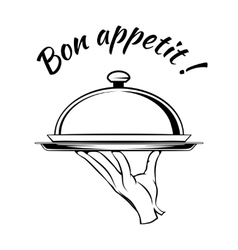Bon Appetit delicious dish element vector image