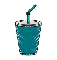 Delicious soda cup icon imag vector