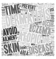 Eczema or atopic dermatitis anyone text background vector