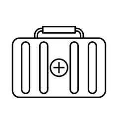 First aid kit icon outline style vector image