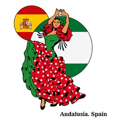 Flamenco in andalusia woman in dance vector