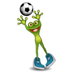 Frog goalkeeper vector