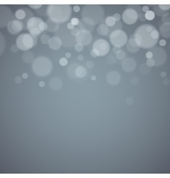 Gray background with defocused lights vector image vector image
