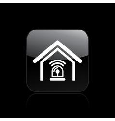 home alarm icon vector image vector image