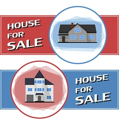 House sale banner cottage in flat style vector