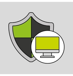 Internet security computer protection shield vector