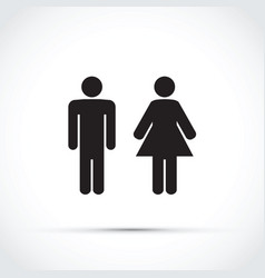men and women toilet sign vector image