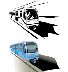 metro vector image vector image