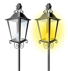 Old vintage street lamp vector image vector image