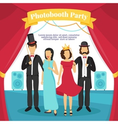 Photo Booth Party vector image vector image