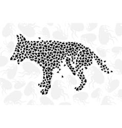 scratch dog vector image
