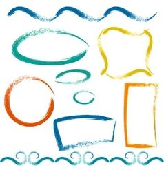Set of grunge brush frames vector image