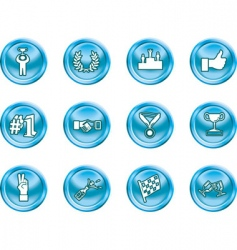 success and vctory icons vector image vector image